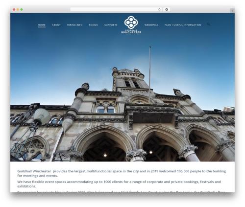 Jupiter template WordPress - guildhallwinchester.co.uk