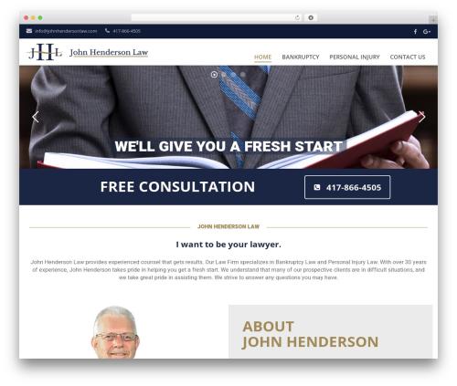 Best WordPress theme Qaro - johnhendersonlaw.com