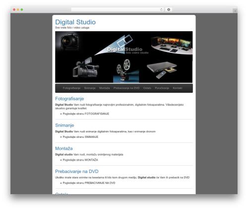 BLANK Theme top WordPress theme - digitalstudio.co.rs
