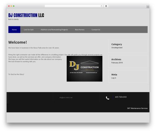 Maintenance Services template WordPress - djconstructionllc.com