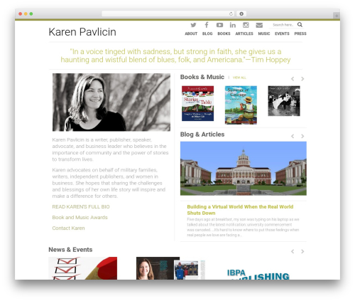 Orao WordPress theme design - karenpavlicin.com