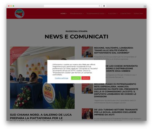 Politist template WordPress - siciliavera.com