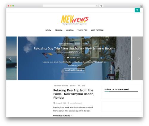 Vihaan Blog Lite WordPress theme design - mevnews.com