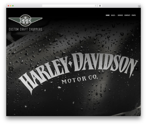 WP theme Bikersclub - customcraftchoppers.com