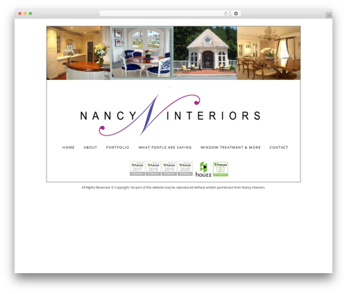 WP theme Whitelabel - nancyinteriors.com