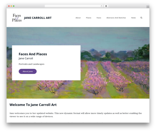 Clean Blocks WordPress page template - janecarrollart.com