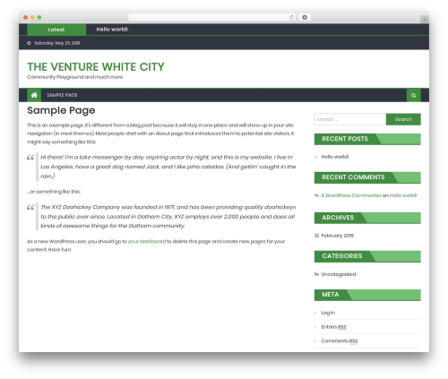 Eggnews WordPress template free download - theventurewhitecity.org