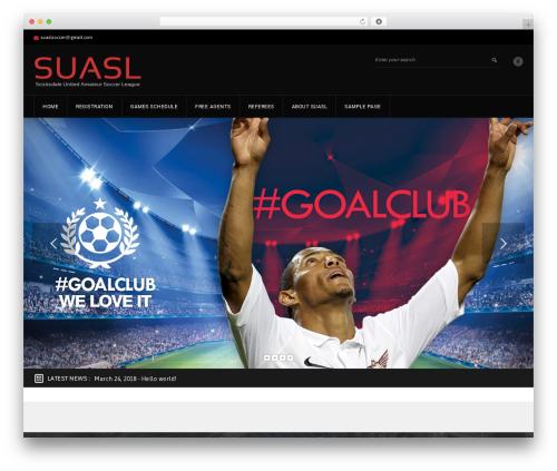 GoalKlub WP theme - inspirebest.com