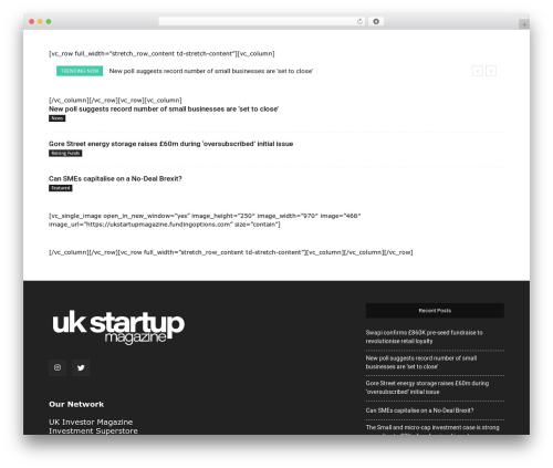 Newspaper newspaper WordPress theme - ukstartupmagazine.com