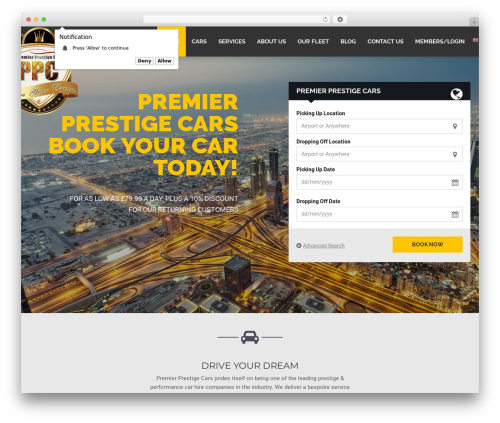 Theme WordPress RentIt - premierprestigecarsltd.com