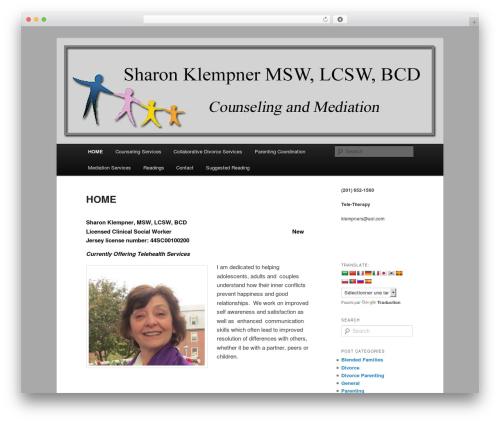 Twenty Eleven free WordPress theme - sharonklempner.com