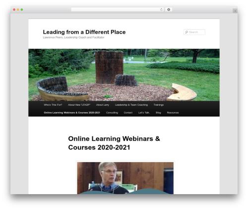 Twenty Eleven template WordPress free - leadingfromadifferentplace.com