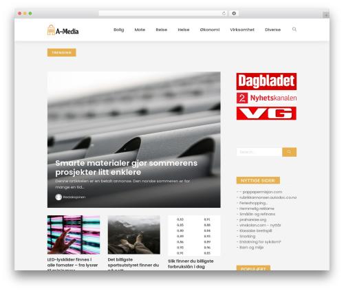 WordPress website template Peflican - abraide-media.no