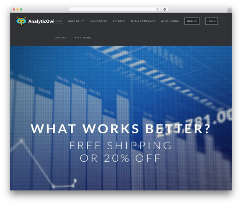 Wp Haswell WordPress theme - analyticowl.com
