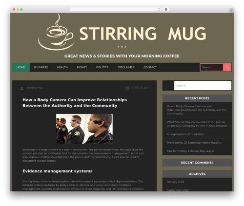 CoolStuff WordPress magazine theme - stirringmug.com