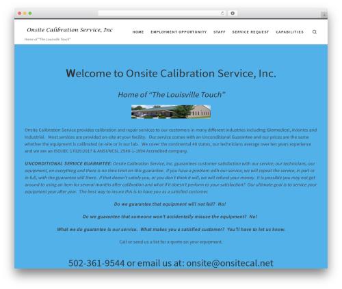 Customizr best free WordPress theme - onsitecal.net