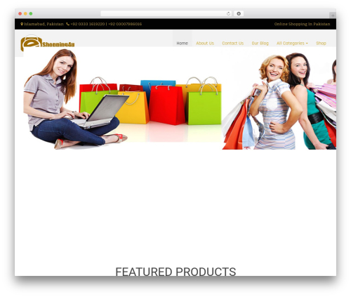 Di Responsive WordPress shop theme - eshopping4u.com