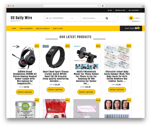 Ecommerce Solution best WordPress template - usdailywire.com