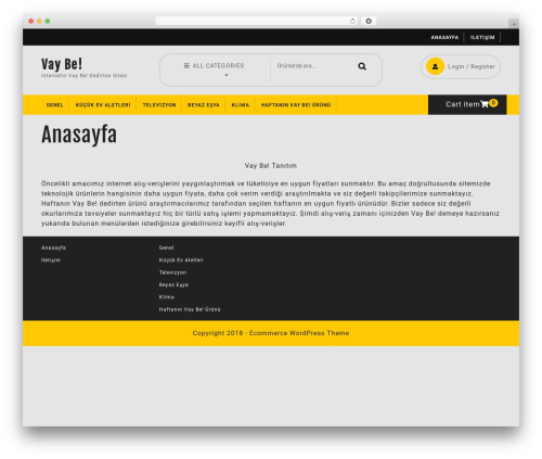 Ecommerce Solution WordPress page template - vaybe.xyz