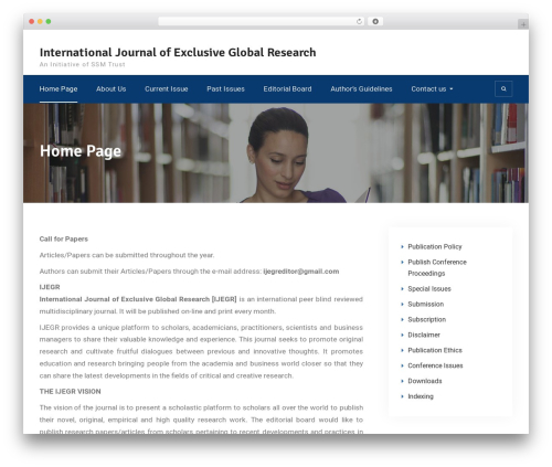 Education Mind template WordPress - ijegr.com
