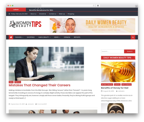 Eggnews WP theme - womenbeautytips.org