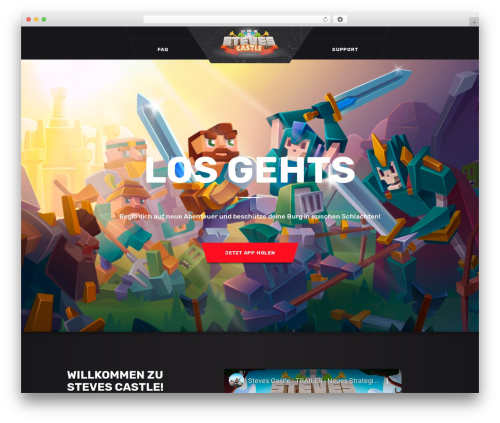Template WordPress Playerx - stevescastle.com