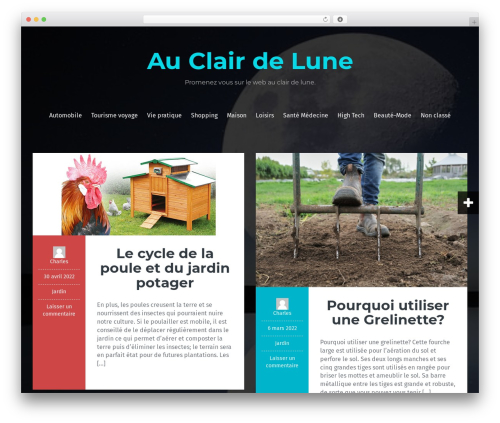 WordPress theme Fara - au-clair-de-lune.com