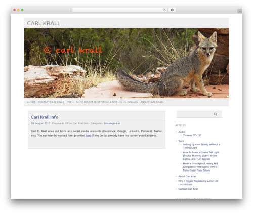 WP theme picolight - carlkrall.com