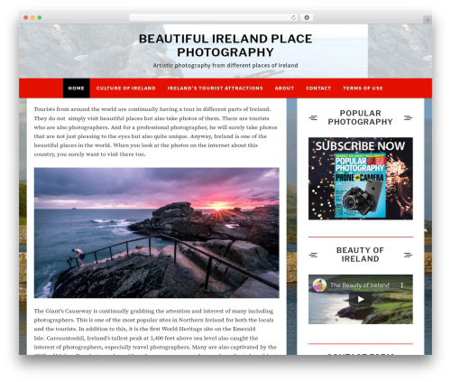 Xmas Lite template WordPress free - beautiful-ireland-photo.com