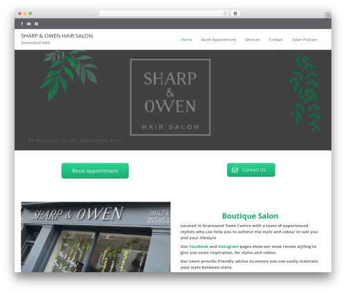 Beauty Studio WP template - sharp-owen.com