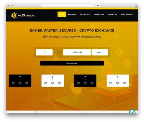 Cryptic premium WordPress theme - cryxchange.com