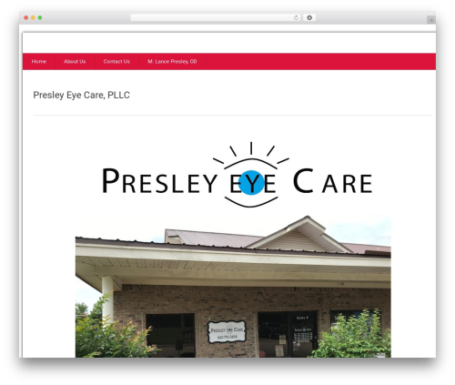 Health-Center-Lite top WordPress theme - presleyeyecare.com