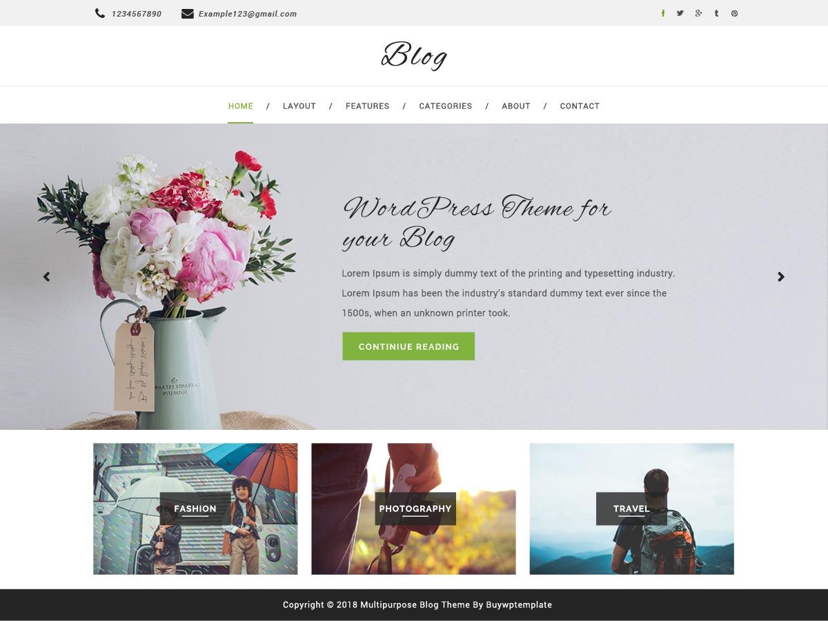 Multipurpose Blog Child WordPress news template