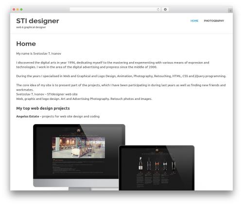 Poseidon WordPress theme design - stidesigner.net