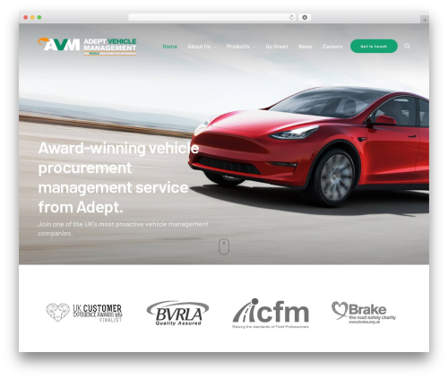 Revolution premium WordPress theme - adeptvehicle.com