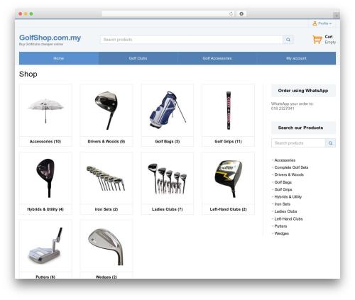 SalesZone WordPress store theme - golfshop.com.my