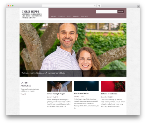 Yasmin best WordPress theme - chrishippe.com