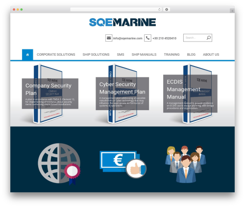 Divi best WordPress template - sqemarine.com