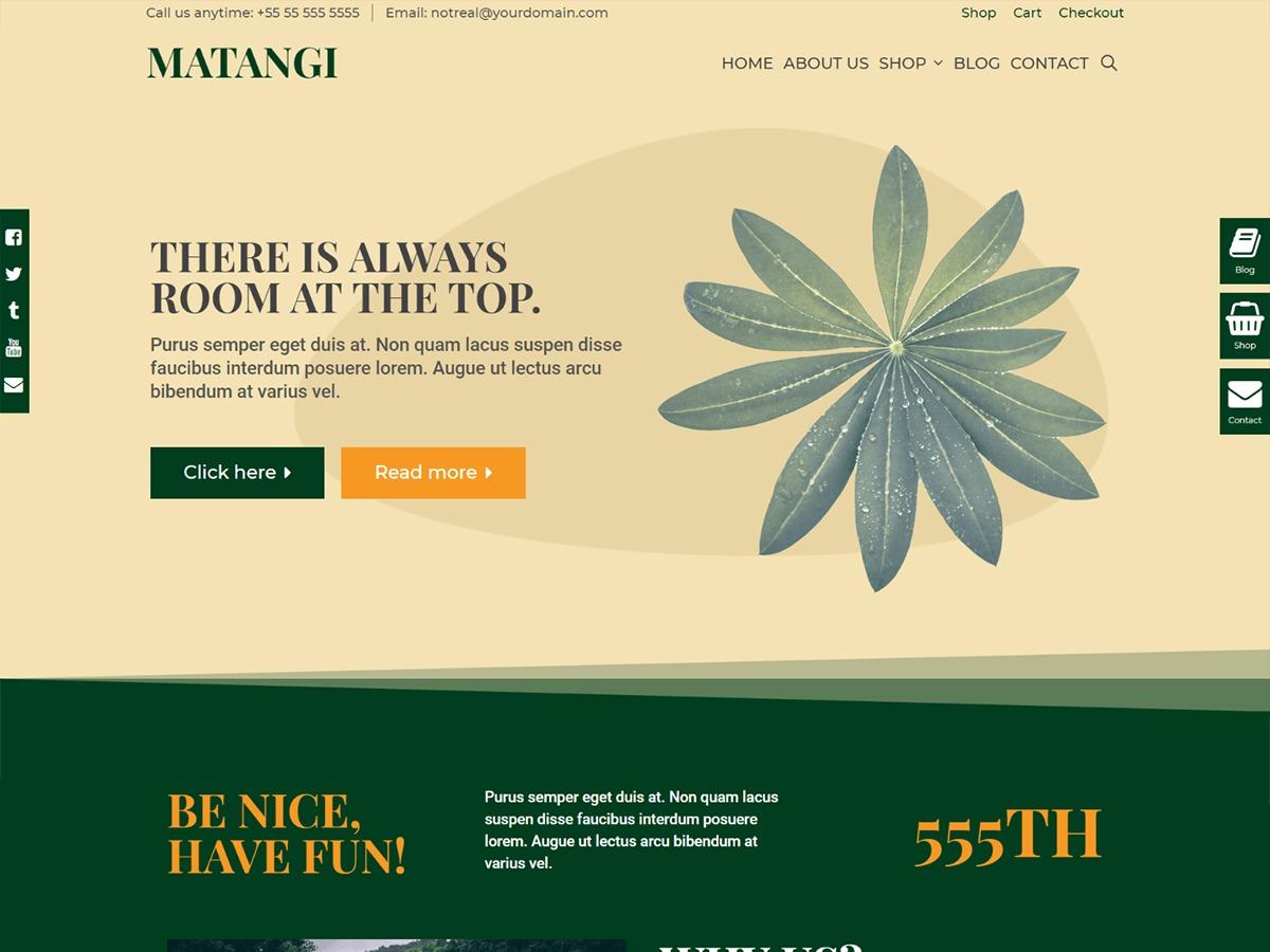 Matangi theme WordPress portfolio