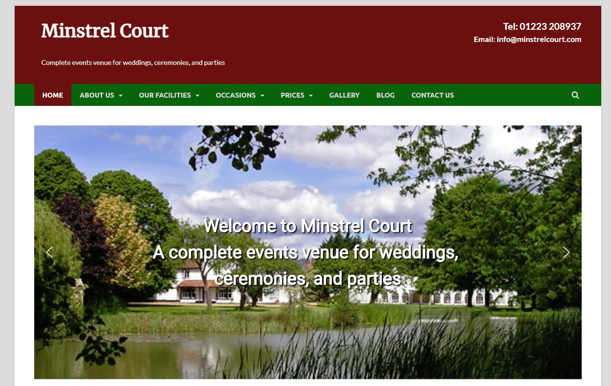 Minstrel Court newspaper WordPress theme
