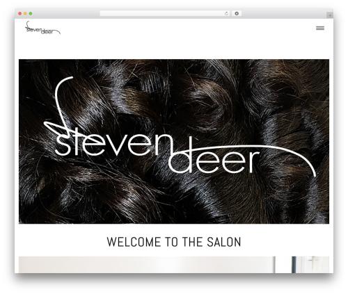 Superflick WordPress page template - stevendeersalon.com