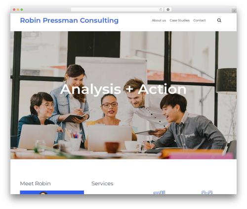 WordPress template (VamTam) Consulting - robinpressman.com