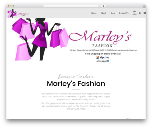 Bazaar WordPress shopping theme - marleysfashion.com