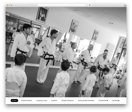 The7 WordPress theme design - augsburg-taekwondo.de