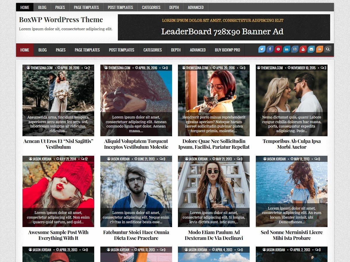 BoxWP WordPress magazine theme