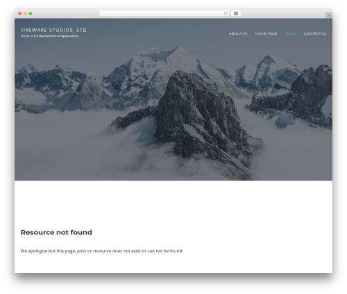 Cronus free WordPress theme - firewarestudios.com