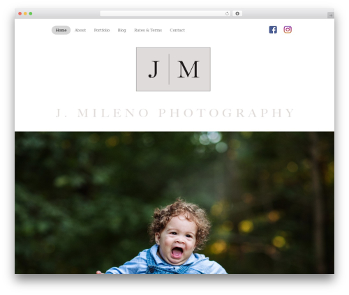 Template WordPress J. Mileno Theme - jmilenophotography.com