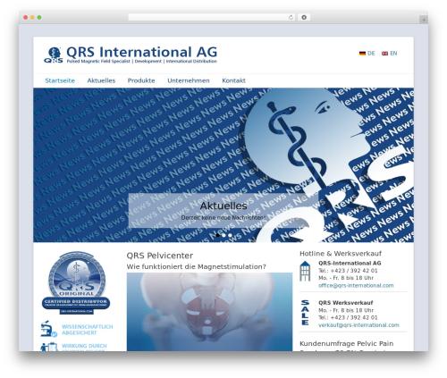 WordPress template Catch Base Pro - qrs-international.com