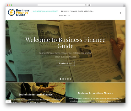 WordPress theme Balance - businessfinanceguide.net