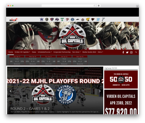 Barracuda WordPress theme - oilcapshockey.com